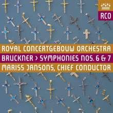 Anton Bruckner (1824-1896): Symphonien Nr.6 & 7, 2 SACDs