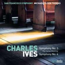 Charles Ives (1874-1954): Symphonien Nr.3 & 4, Super Audio CD