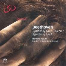 Ludwig van Beethoven (1770-1827): Symphonien Nr.2 & 6, Super Audio CD