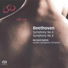 Ludwig van Beethoven (1770-1827): Symphonien Nr.4 & 8, Super Audio CD