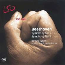 Ludwig van Beethoven (1770-1827): Symphonien Nr.1 & 5, Super Audio CD