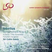 Jean Sibelius (1865-1957): Symphonien Nr.1-7, 6 SACDs