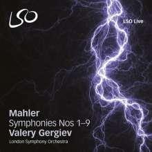 Gustav Mahler (1860-1911): Symphonien Nr.1-9, 10 Super Audio CDs