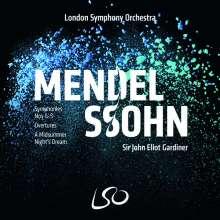 Felix Mendelssohn Bartholdy (1809-1847): Symphonien Nr. 1-5, 4 Super Audio CDs und 1 Blu-ray Audio
