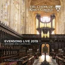 King's College Choir Cambridge - Evensong Live 2019, CD