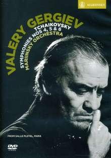 Peter Iljitsch Tschaikowsky (1840-1893): Symphonien Nr.4-6, DVD