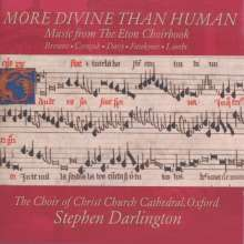 More Divine Than Human - Music from the Eton Choirbook, CD