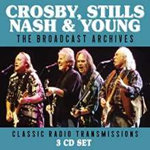 Crosby, Stills, Nash & Young: The Broadcast Archives: Classic Radio Transmissions 1980 - 1991, 3 CDs