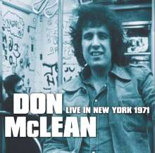 Don McLean: Live in New York 1971, CD