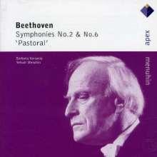 Ludwig van Beethoven (1770-1827): Symphonien Nr.2 & 6, CD