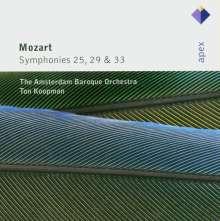 Wolfgang Amadeus Mozart (1756-1791): Symphonien Nr.25,29,33, CD