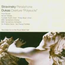 Igor Strawinsky (1882-1971): Persephone, CD