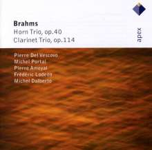 Johannes Brahms (1833-1897): Klarinettentrio op.114, CD