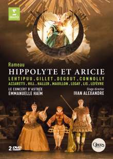 Jean Philippe Rameau (1683-1764): Hippolyte et Aricie, 2 DVDs