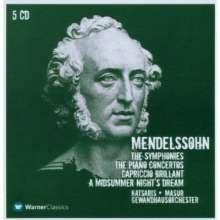 Felix Mendelssohn Bartholdy (1809-1847): Symphonien Nr.1-5, 5 CDs