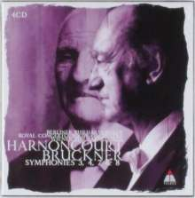 Anton Bruckner (1824-1896): Symphonien Nr.3,4,7,8, 4 CDs
