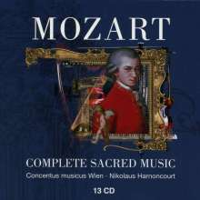 Wolfgang Amadeus Mozart (1756-1791): Das geistliche Werk (Gesamtaufnahme), 13 CDs