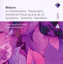 Anton Webern (1883-1945): Konzert op.24, CD