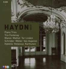 Joseph Haydn (1732-1809): Klaviertrios H.15 Nr.1,9-12,15-18,21,25,30,34-41, 5 CDs