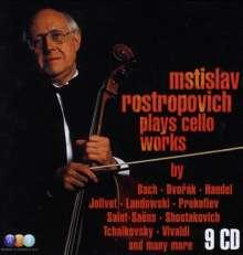 Mstislav Rostropovich plays Cello Works, 9 CDs
