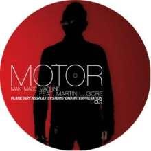 "Motor feat. Martin L. Gore: Man Made Machine (Picture Disc), Single 12"""