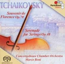 Peter Iljitsch Tschaikowsky (1840-1893): Souvenir de Florence für Streichorchester, Super Audio CD