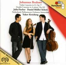 Johannes Brahms (1833-1897): Violinkonzert op.77, Super Audio CD
