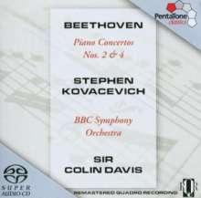 Ludwig van Beethoven (1770-1827): Klavierkonzerte Nr.2 & 4, SACD