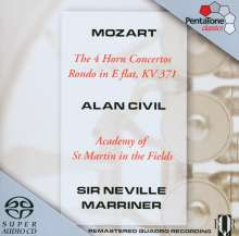 Wolfgang Amadeus Mozart (1756-1791): Hornkonzerte Nr.1-4, SACD