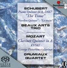 """Franz Schubert (1797-1828): Klavierquintett D.667 """"Forellenquintett"""", SACD"""