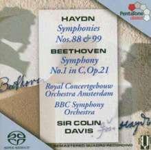 Joseph Haydn (1732-1809): Symphonien Nr.88 & 99, SACD