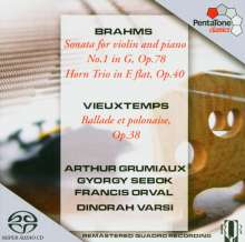 Johannes Brahms (1833-1897): Sonate für Violine & Klavier Nr.1 (op.78), Super Audio CD
