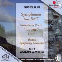 Jean Sibelius (1865-1957): Symphonien Nr.5 & 7, SACD