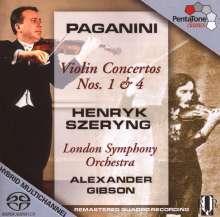 Niccolo Paganini (1782-1840): Violinkonzerte Nr.1 & 4, SACD