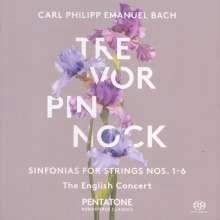 "Carl Philipp Emanuel Bach (1714-1788): Symphonien Wq.182 Nr.1-6 ""Hamburger"", SACD"