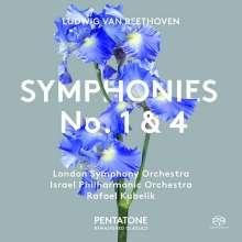 Ludwig van Beethoven (1770-1827): Symphonien Nr.1 & 4, SACD