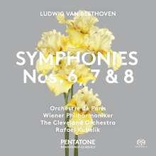 Ludwig van Beethoven (1770-1827): Symphonien Nr.6-8, 2 Super Audio CDs