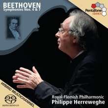 Ludwig van Beethoven (1770-1827): Symphonien Nr.4 & 7, SACD