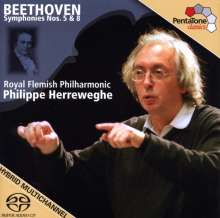 Ludwig van Beethoven (1770-1827): Symphonien Nr.5 & 8, SACD