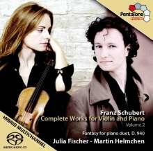 Franz Schubert (1797-1828): Sämtliche Werke für Violine & Klavier Vol.2, SACD