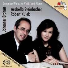 Johannes Brahms (1833-1897): Sonaten für Violine & Klavier Nr.1-3, Super Audio CD