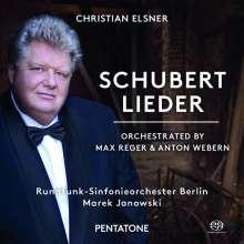 Franz Schubert (1797-1828): Lieder in Orchesterfassungen (orchestriert von Max Reger & Anton Webern), SACD