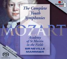 Wolfgang Amadeus Mozart (1756-1791): Frühe Symphonien, 4 SACDs