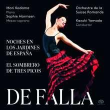 Manuel de Falla (1876-1946): Nächte in spanischen Gärten für Klavier & Orchester, SACD