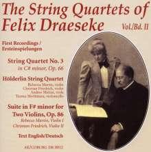 Felix Draeseke (1835-1913): Streichquartette Vol.2, CD