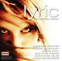 """Orchesterlieder """"Lyric"""", 2 CDs"""