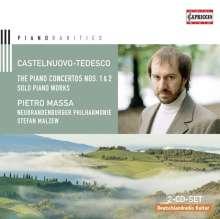 Mario Castelnuovo-Tedesco (1895-1968): Klavierkonzerte Nr.1 & 2, 2 CDs