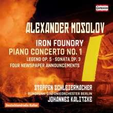 Alexander Mosolov (1900-1973): Klavierkonzert Nr.1 op.14, CD