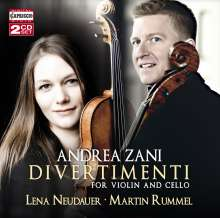 Andrea Zani (1696-1757): Divertimenti für Violine & Cello Nr.1-12, 2 CDs
