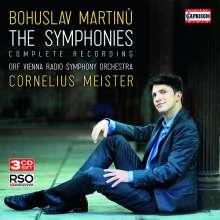 Bohuslav Martinu (1890-1959): Symphonien Nr.1-6, 3 CDs